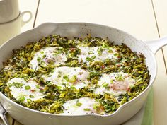 Skillet Eggs with Squash from #FNMag #myplate #protein #vegetables