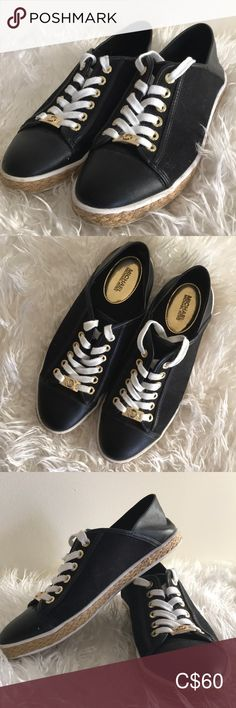 Shop Women's Michael Kors Black Gold size Espadrilles at a discounted price at Poshmark. Description: In perfect condition, used 1 time! Espadrille Shoes, Espadrilles, Michael Kors Flats, Closet, Things To Sell, Black, Style, Fashion, Espadrilles Outfit