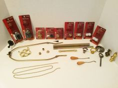 Lot of Lamp Parts New & Used - Sockets Finials Harp Chain Knobs & more - Metal & Plastic