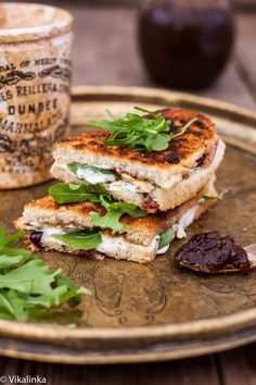 Grilled Goat Cheese and Fig Chutney Sandwich @FoodBlogs