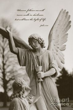 Angel with Jesus by Kathy Fornal