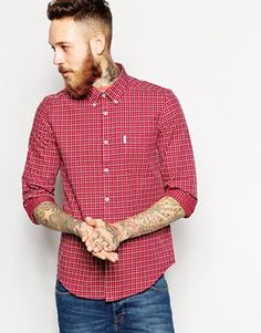 Ben Sherman Long Sleeve Fleck Shirt