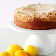 Meyer Lemon Crumb Cake  - I want to make but its 90 degrees in here - too hot to turn oven on and work w/ butter!