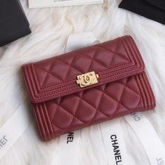 Chanel A84302-2 Boy Chanel Small Wallet