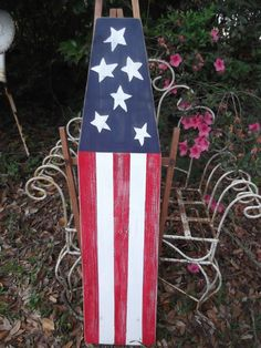 Items similar to vintage antique Americana wooden ironing board, shabby chic table ironing board, farmhouse on Etsy Door Crafts, Diy Crafts To Do, July Crafts, Painted Ironing Board, Antique Ironing Boards, Primitive Crafts, Primitive Country, Fall Projects, Diy Projects