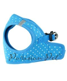 Parisian Pet Step-In Blue Dots Harness @ Pupaholic.com