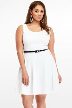 Textured Knit Flare Dress