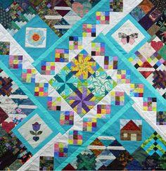scrap happy quilt  by Chris Lynn Kirsch  use up orphan blocks