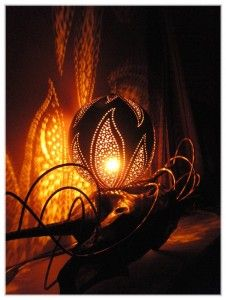 Calabash lamp from Guadeloupe