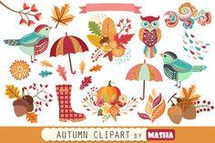 AUTUMN clipart by Masha  Studio on @creativemarket