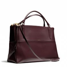 Coach Large Borough Bag in Polished Calfskin