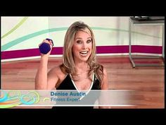 Wake Up and Go with Denise Austin. Video 15 minute Fat Burning and Abdominals. #Workouts