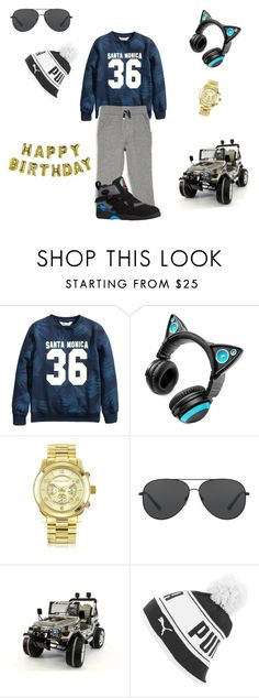 """""""Happy Birthday Mj !!!-Cammie"""" by trill-queen23 ❤ liked on Polyvore featuring beauty, Brookstone, Michael Kors, Puma and Talking Tables"""