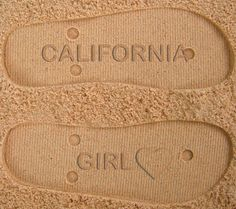 California Girl Custom Sand Imprint