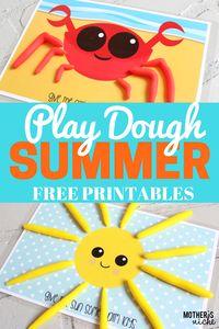 Play Dough Mat Busy Bags- SUMMERTIME EDITION | Mother's Niche | Bloglovin'