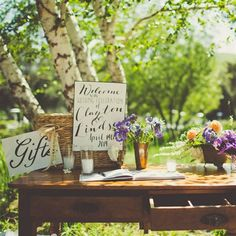 Vintage-Inspired Guestbook Table