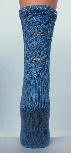 Ravelry: Bling (Arkansas) pattern by Adrienne Fong - beautiful beads on the socks. love the lacework.