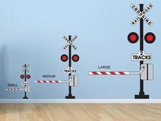 Railroad Crossing Sign Wall Decal by WallJems on Etsy