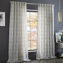 Curtains, Window Shades & Window Panels   West Elm Cotton Canvas Stamped Dots Curtain