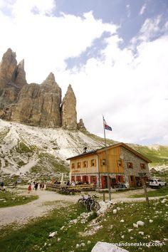 Tre Cime di Lavaredo at the Dolomites, Italy   Apron and Sneakers