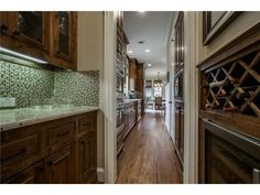 Butler's pantry with wine storage off the kitchen