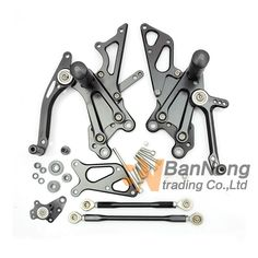 100.00$  Watch now - http://alips3.worldwells.pw/go.php?t=32744322750 - High quality motorcycle silver Front&Rear Footrests Foot pegs For Yamaha FZR600 YZF600 R6 R1 MT09 100.00$