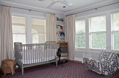 chic nursery...love the painted Jenny Lind crib