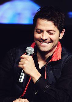 jensen may be hot, but misha is so darn adorable it hurts my eyes