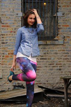 What, what? #galaxy leggings!