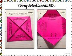 WHAT ARE PROPORTIONS FOLDABLE- PERFECT FOR INTERACTIVE MATH NOTEBOOKS - TeachersPayTeachers.com
