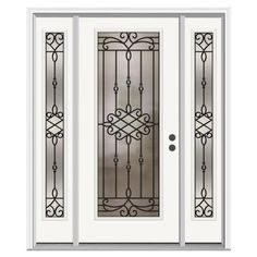$1562 JELD-WEN Sanibel Full Lite Primed Steel Entry Door with 14 in. Sidelites-H31364 at The Home Depot