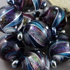 Magma Beads~Deep Space~ x8 Handmade Lampwork Beads w' Spacers included #Lampwork - eBay <3<3<3BEAUTIFUL~STUNNING~AWESOME<3<3<3