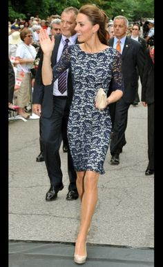 Kate Middleton- I am proud to say that I own a dress very similar to this one :)