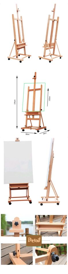 Easels 41204: 360-Degree Spinner Finished Artist H-Frame W Sturdy Wood Studio Easel Adjustable -> BUY IT NOW ONLY: $70.29 on eBay!