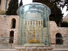 Jerusalem's most famous Menorah~in the Old City overlooking the Western Wall