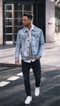 28 Dope outfits from this influencer! 28 Dope outfits from this influencer! 28 Dope outfits from this influencer! Mens Casual Trends, Men Casual, Rugged Style, Best Mens Fashion, Mens Fashion Suits, Rugged Fashion, Dope Outfits, Trendy Outfits, Denim Jacket Men