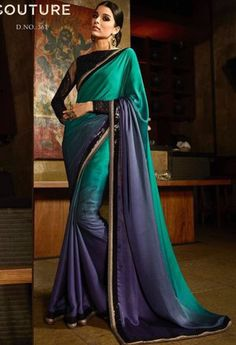 Green Satin Designer Saree..@ fashionsbyindia.com #designs #indian #fashion…