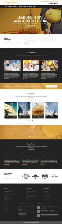 Enhenyero - Engineering Construction Muse template by rometheme, available at themeforest