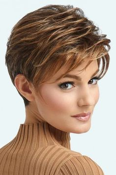 Advanced French Wig by Raquel Welch Wigs - Lace Front, Heat Friendly Synthetic Wig Perruque français Short Hair With Layers, Short Hair Cuts For Women, Short Hairstyles For Women, Wig Hairstyles, French Hairstyles, Evening Hairstyles, Short Wavy, Hairdos, Hairstyle Ideas
