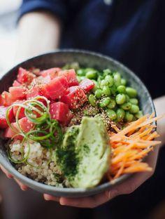 Poke inspired beet bowl vegan