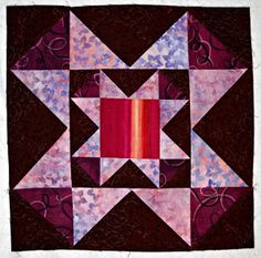 Curlicue Creations: Star Quilt Block of the Month Tutorial #1 - Superstar