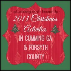 Christmas Activities in Cumming GA & Forsyth County