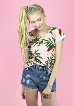 T-SHIRT 'FLAMINGO ATTACK'