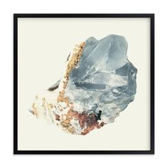 """Rock Study 2 fluorite"" - Art Print by Baumbirdy in beautiful frame options and a variety of sizes."