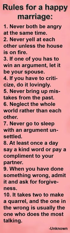 Positive Marriage Quotes - Happy Wives Club Very good rules. I think the most important thing I've learned from marriage so far is to be patient with one another and to be able to admit you're wrong. Among a lot of other things obviously ; Positive Marriage Quotes, Marriage Relationship, Happy Marriage, Marriage Advice, Love And Marriage, Marriage Couple, Healthy Marriage, Relationship Sayings, Happy Relationships