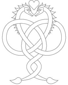 Don't Eat the Paste: Dragon Love Coloring Page
