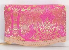 Purse Coins Wallet Thai Elephant Silk Handbag Zip Women Bag Cards Gift Cute Key