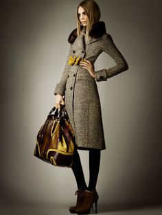 Burberry's coats this season are just to die for. I'm hard pressed to pick a favorite but I have to say this one is just about perfect.