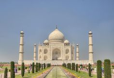 The Love Story Behind the Taj Mahal: The Taj Mahal on a bright and clear day.