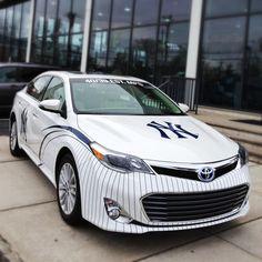 NY Yankees Toyota Avalon Damn Yankees, Yankees Fan, New York Yankees, Columbus Circle, Toyota Avalon, Mlb Teams, Derek Jeter, Dream Cars, Chevy